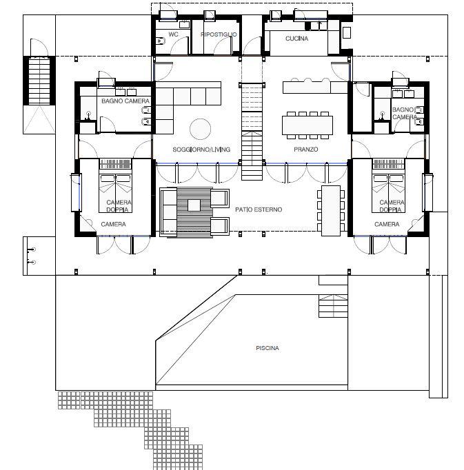 Villa Nosy Be plan ground floor