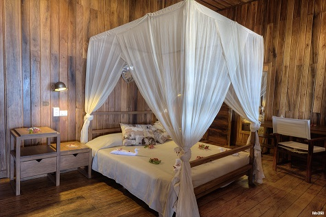 Villa a Nosy Be, camera da letto